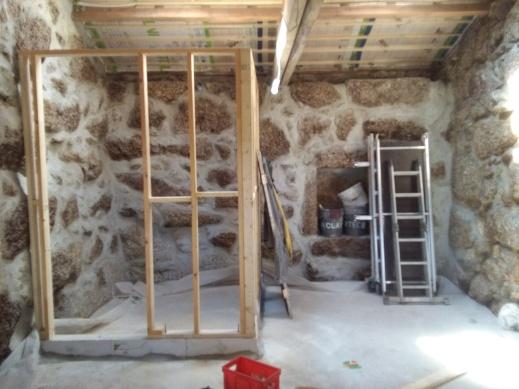 Zomer 2017: voegen klaar + houtstructuur badkamer