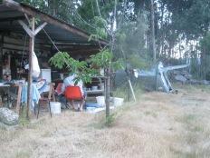 Zomer '13: buitenkeuken en tent