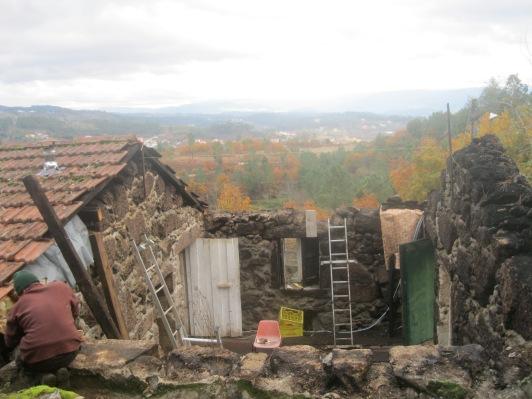 Winter 13-14: afbraak dak 1 in rotweer