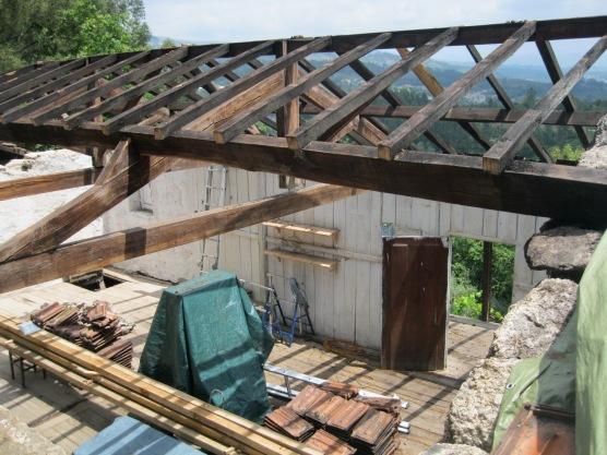 Zomer '14: afbraak dak 2