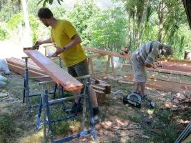 Zomer '14: voorbereiding dak 2