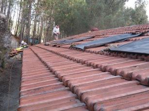 Winter 14-15: achterkant dak met dakpannen