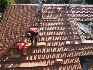 Winter 14-15: achterkant dak afwerking
