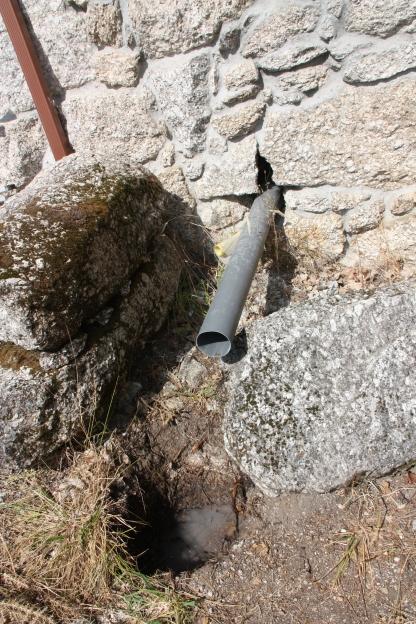 voorlopige vergaarput afvalwater