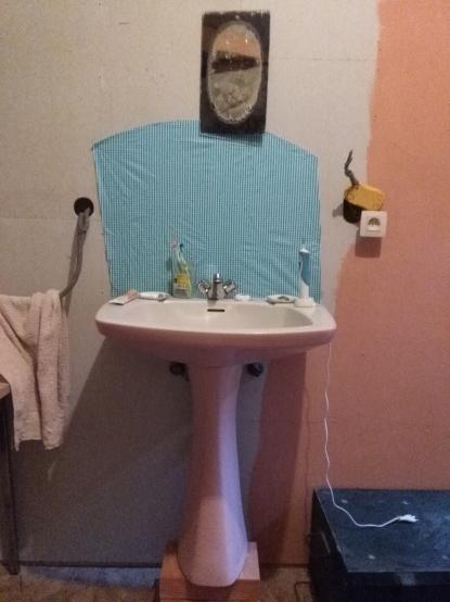 Lijkt al beetje op een echte badkamer.