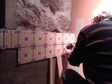 Azulejos in de badkamer!